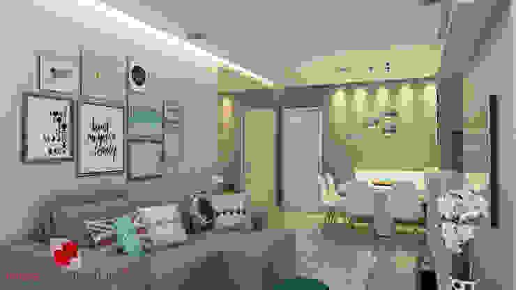 غرفة المعيشة تنفيذ Mais Arquitetura 34, حداثي