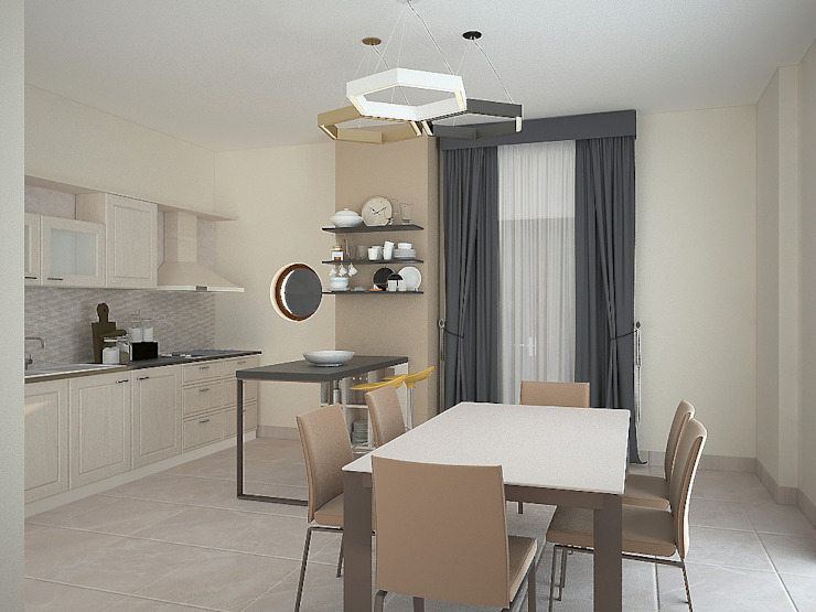 Cucina/sala da pranzo Sala da pranzo moderna di Teresa Lamberti Architetto Moderno