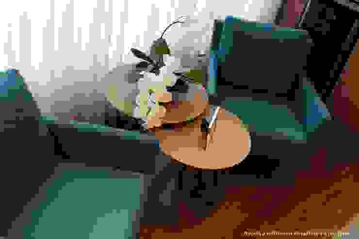 Paradiso Vila Mariana Salas de estar modernas por Angelica Hoffmann Arquitetura e Interiores Moderno