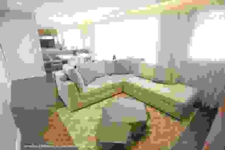 Exuberance Butantã Salas de estar modernas por Angelica Hoffmann Arquitetura e Interiores Moderno