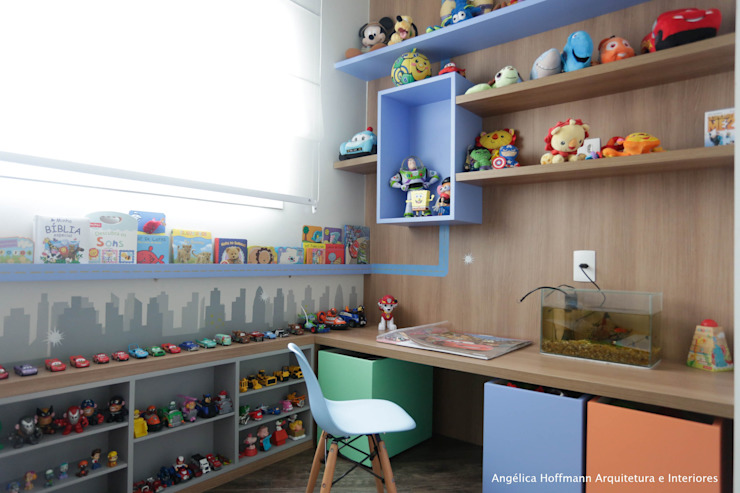 Nursery/kid's room by Angelica Hoffmann Arquitetura e Interiores, Modern