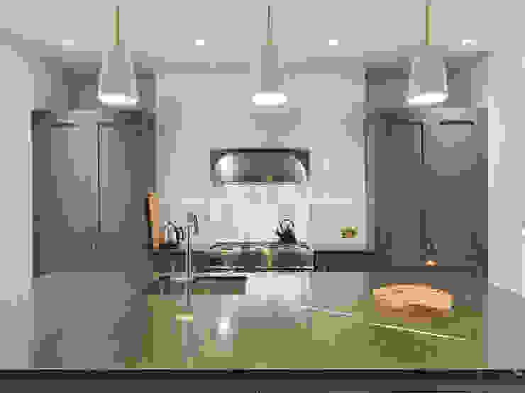 Kitchen island Dapur Gaya Eklektik Oleh Gundry & Ducker Architecture Eklektik