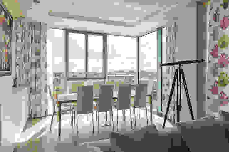 Апартаменты в ЖК Легенда Цветного Elena Potemkina Столовая комната в стиле минимализм