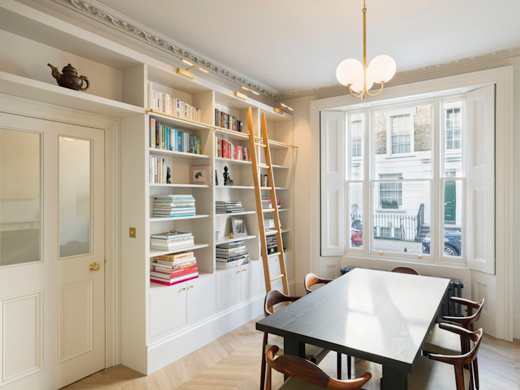 View of library Ruang Makan Gaya Eklektik Oleh Gundry & Ducker Architecture Eklektik