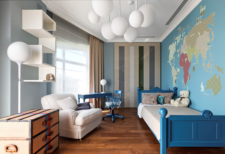 Дом в Миллениум Парке Детские комната в эклектичном стиле от Elena Potemkina Эклектичный