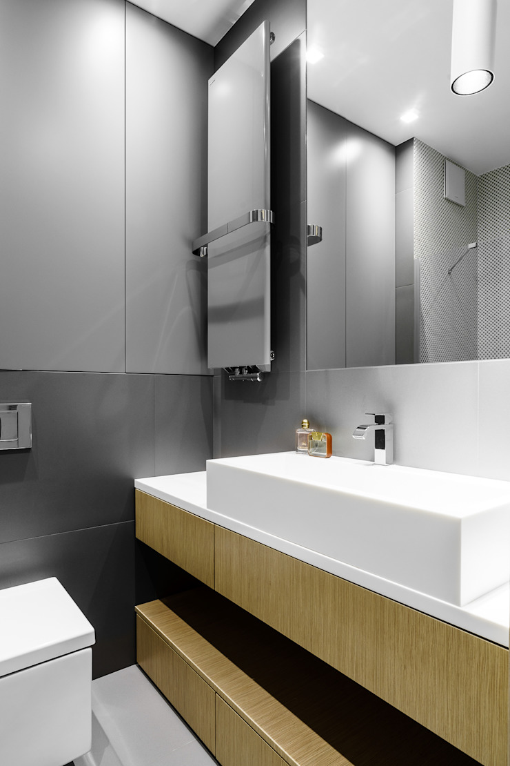 Anna Maria Sokołowska Architektura Wnętrz Minimalist style bathrooms