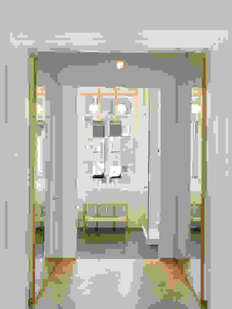 View from dressing room to bathroom Kamar Mandi Gaya Eklektik Oleh Gundry & Ducker Architecture Eklektik