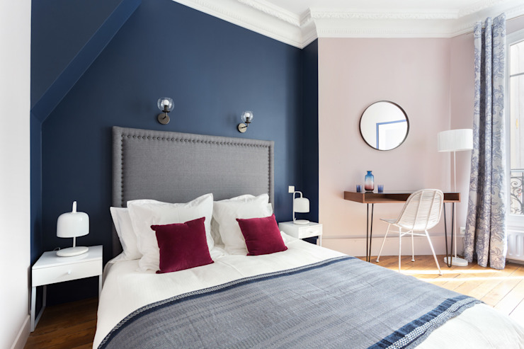 Eclectic style bedroom by Catherine Plumet Interiors Eclectic