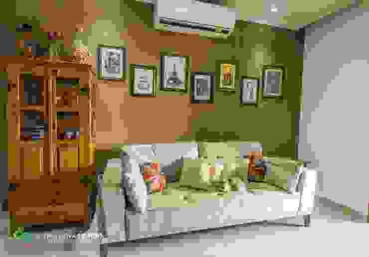 Apartamento com cara de casa - Estilo rústico Salas de estar rústicas por Camarina Studio Rústico
