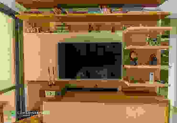 Salas de estilo rústico de Camarina Studio Rústico