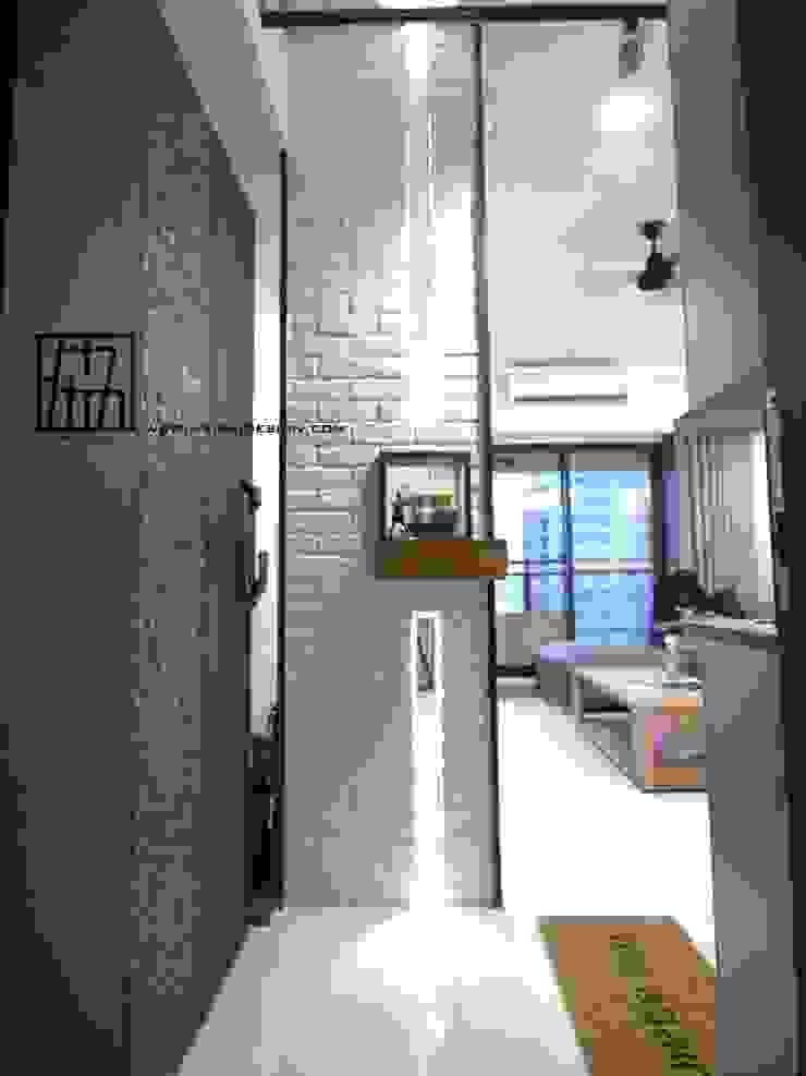 入口玄關 工業風的玄關、走廊與階梯 根據 協億室內設計有限公司 工業風