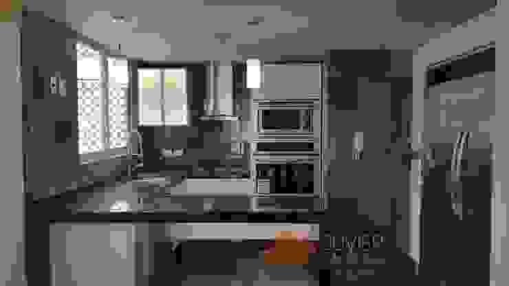Remodelación departamento Cocinas modernas de Juvier SA de CV Moderno Granito