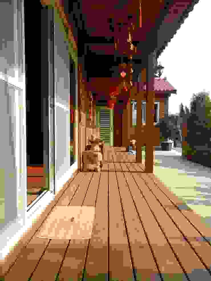 木屋 迴廊 遮雨棚 戶外地板 根據 山田小草木作場 田園風 實木 Multicolored