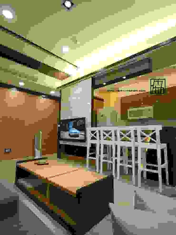 電視牆連接吧檯 根據 協億室內設計有限公司 日式風、東方風