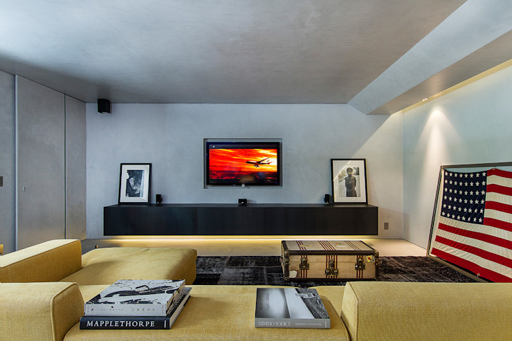 Stefano Pedroni Industrial style media room