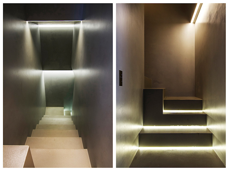 Stefano Pedroni Industrial style corridor, hallway and stairs