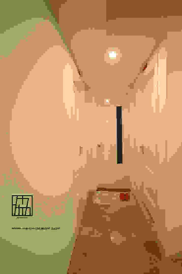 廊道跳色 斯堪的納維亞風格的走廊,走廊和樓梯 根據 協億室內設計有限公司 北歐風