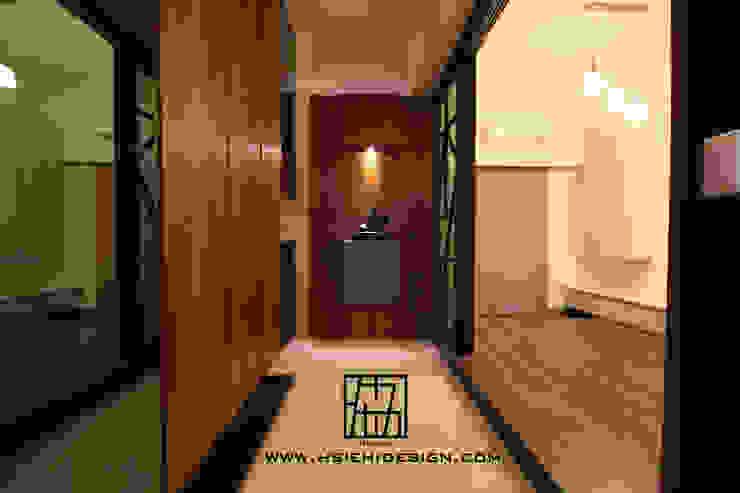 廊道與和室 亞洲風玄關、階梯與走廊 根據 協億室內設計有限公司 日式風、東方風