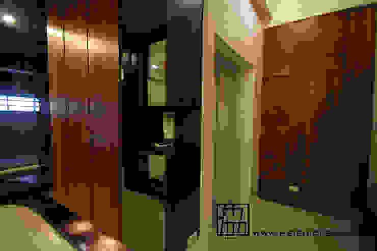 廊道與電梯 亞洲風玄關、階梯與走廊 根據 協億室內設計有限公司 日式風、東方風