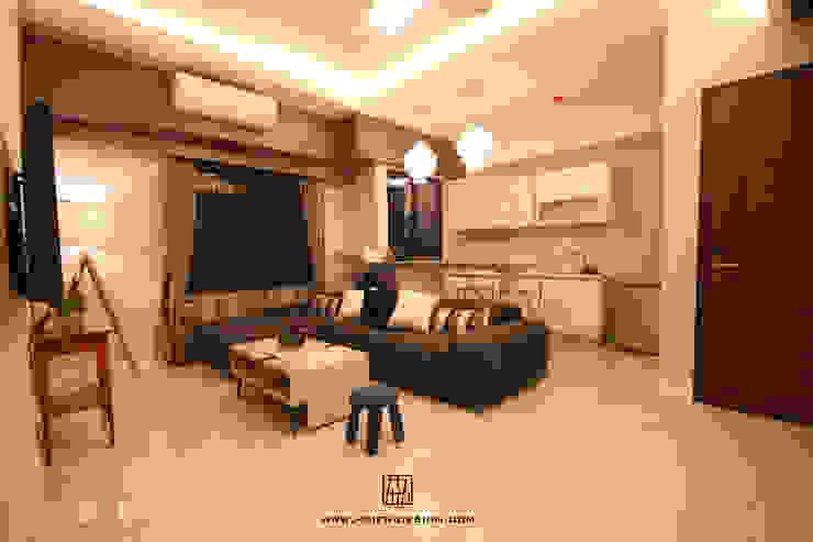 客廳與開放式廚房 根據 協億室內設計有限公司 古典風