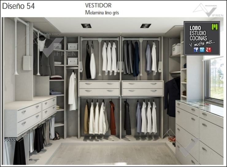 Dressing room by Milar Lobo Estudio Cocinas, Modern