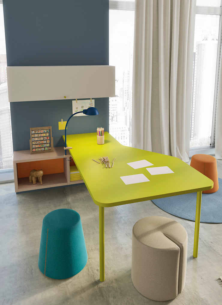 Nidi Modern Kid's Room Engineered Wood Green