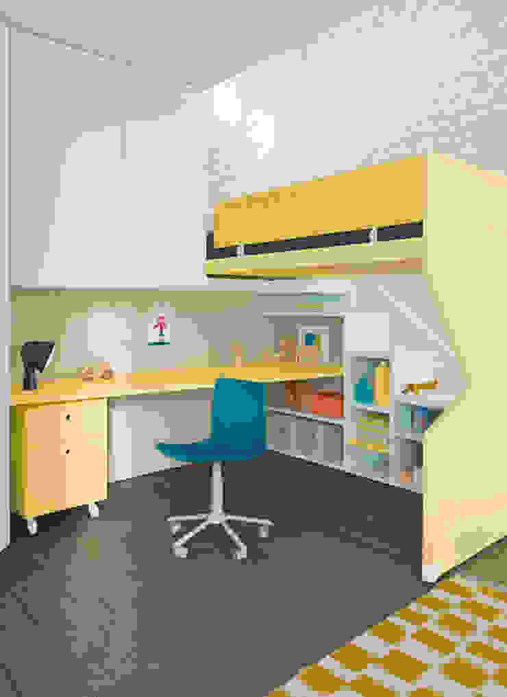 Nidi Modern Kid's Room Engineered Wood Yellow