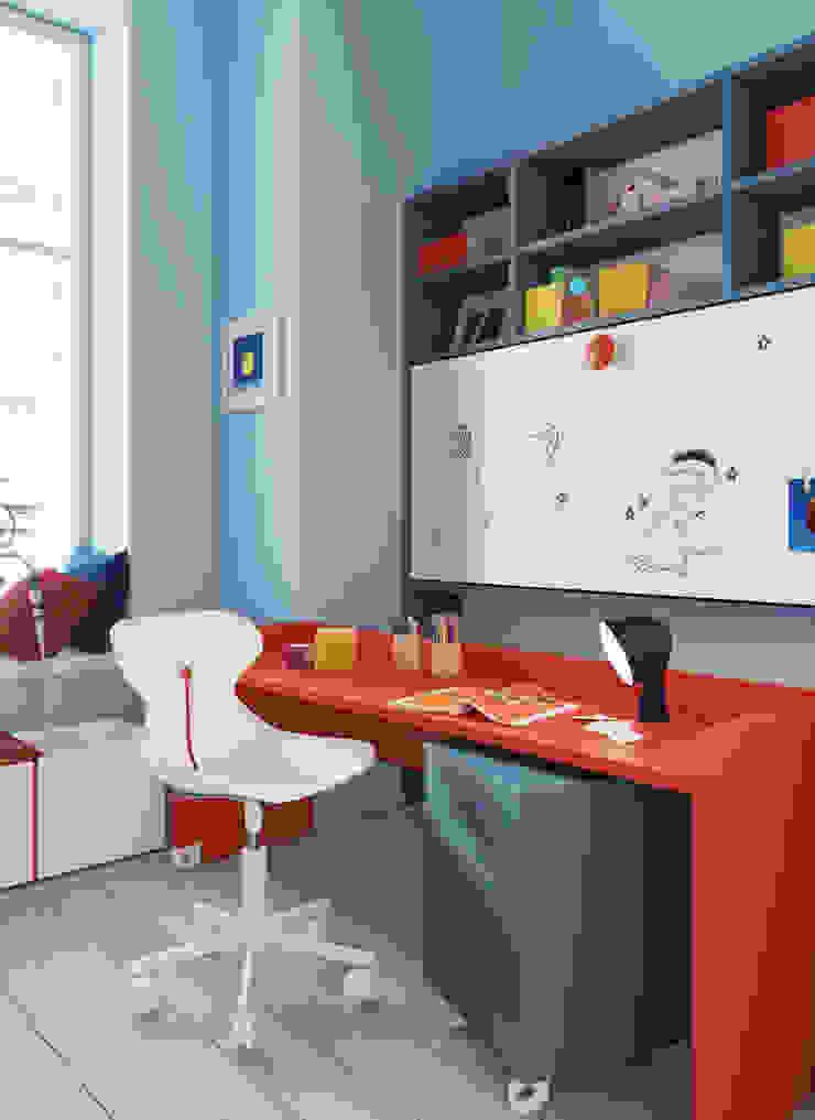 Nidi Modern Kid's Room Engineered Wood Red