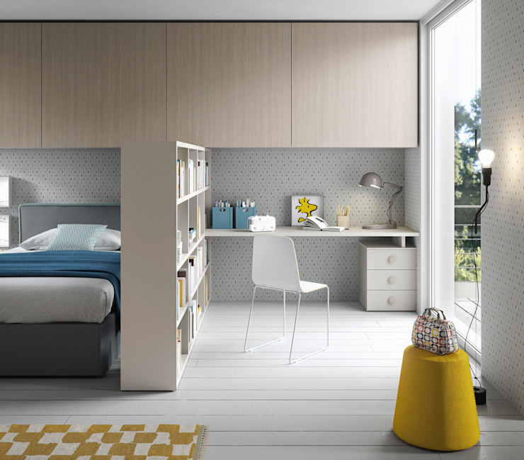 Nidi Modern Kid's Room Engineered Wood Beige