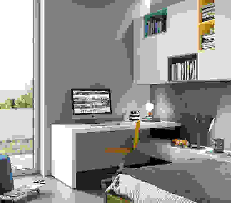 Nidi Modern Study Room and Home Office Engineered Wood Multicolored