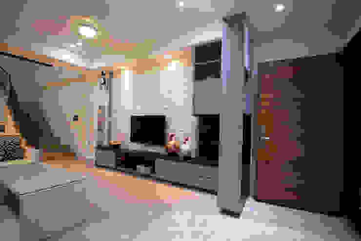 玄關客廳 根據 協億室內設計有限公司 鄉村風