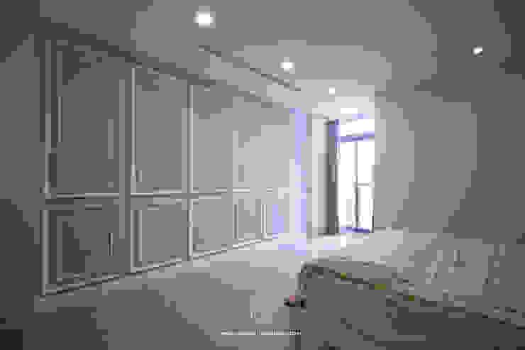 主臥室牆面造型 根據 協億室內設計有限公司 鄉村風