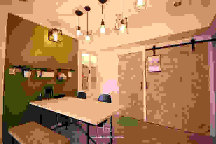 인더스트리얼 다이닝 룸 by 協億室內設計有限公司 인더스트리얼