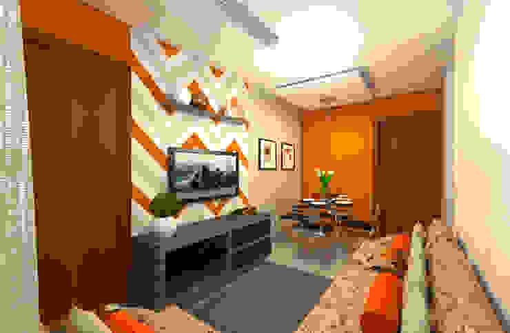 Decoração Apartamento C.O. DTE Arquitetura e Consultoria LTDA Salas de estar ecléticas