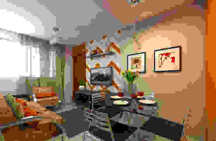 DTE Arquitetura e Consultoria LTDA Eclectic style dining room