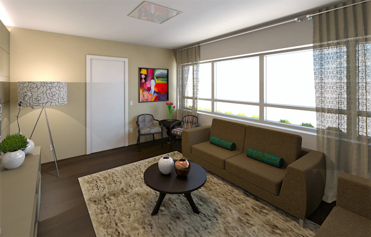Salas / recibidores de estilo  por DTE Arquitetura,
