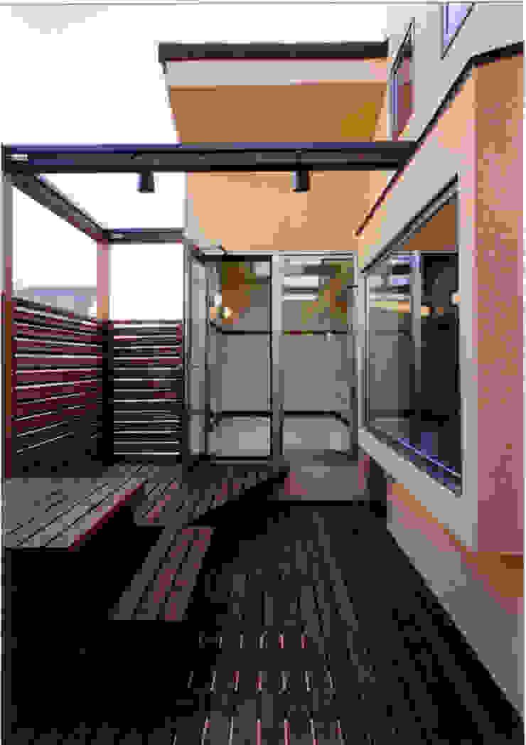 Eclectic style balcony, veranda & terrace by 豊田空間デザイン室 一級建築士事務所 Eclectic