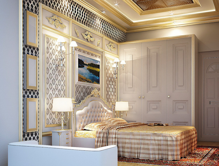 MASTER BEDROOM Colonial style bedroom by Fervor design Colonial