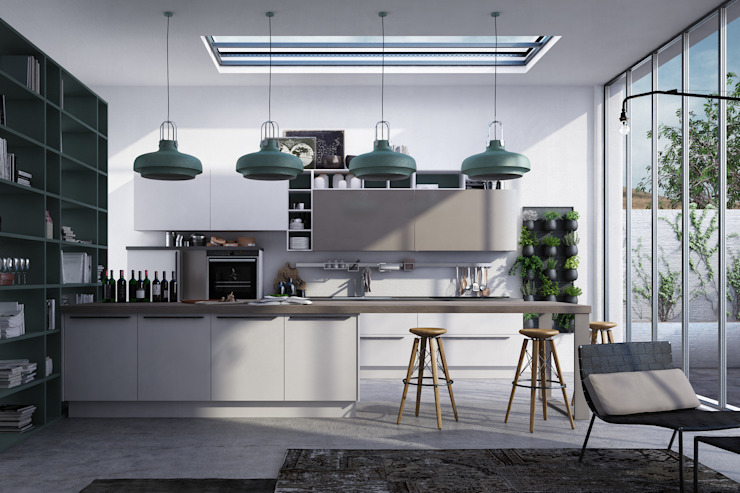Industrial style kitchen by Studio Gentile Industrial