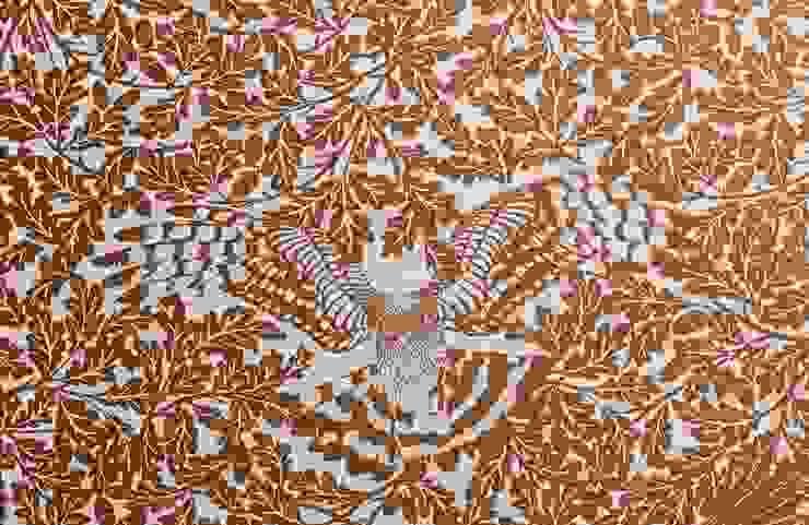 FOREST Copper Rust Metallic Screen Print Wallpaper 10m Roll Hevensent HogarAccesorios y decoración