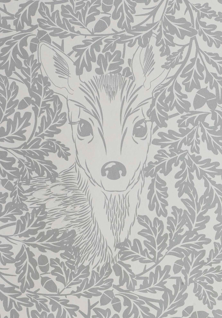 FOREST Dust Dove Grey Wallpaper 10m Roll Hevensent MaisonAccessoires & décoration