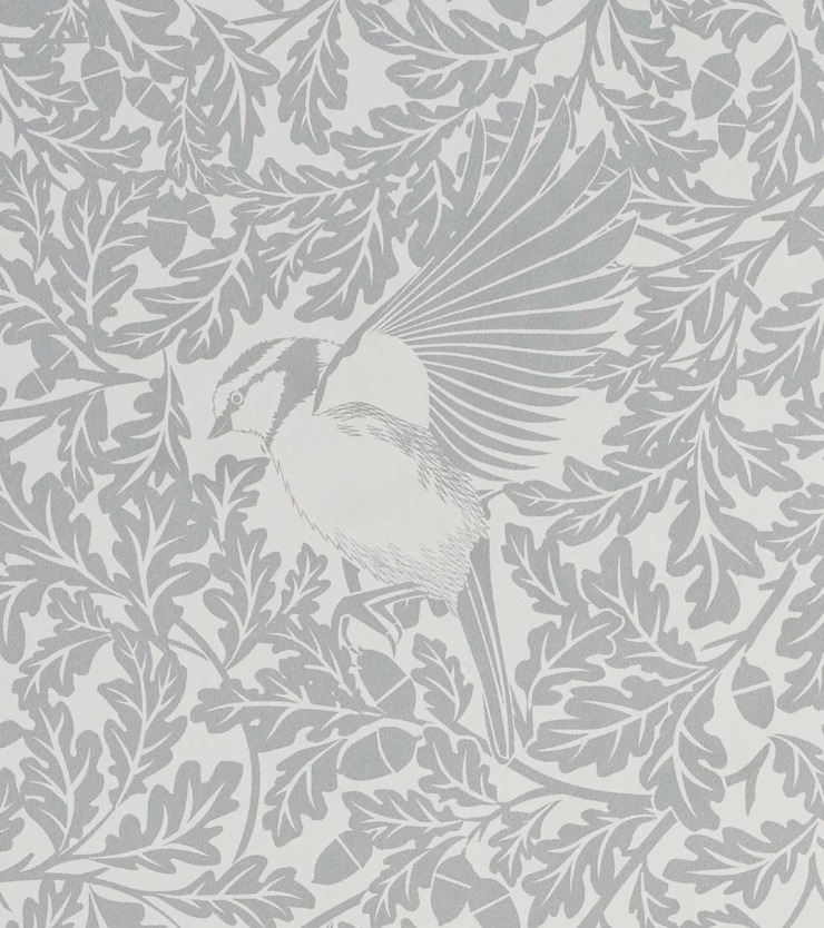 FOREST Dust Dove Grey Wallpaper 10m Roll par Hevensent Scandinave