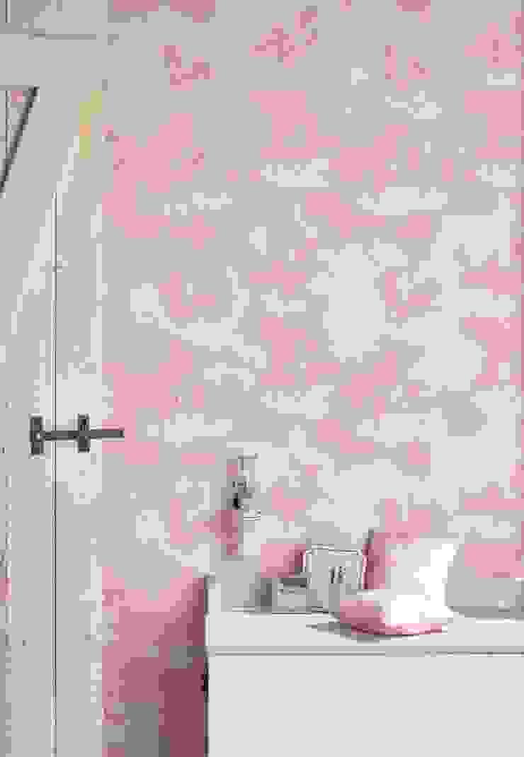 POPCORN Pink Wallpaper 10m Roll de Hevensent Clásico