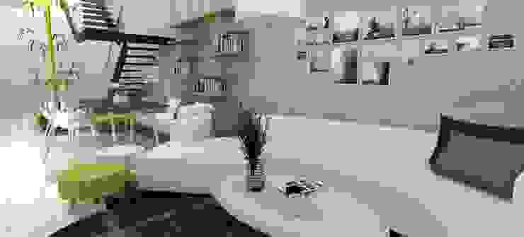 山風足跡民宿-1樓大廳區 根據 垼程建築師事務所/浮見月設計工程有限公司 現代風