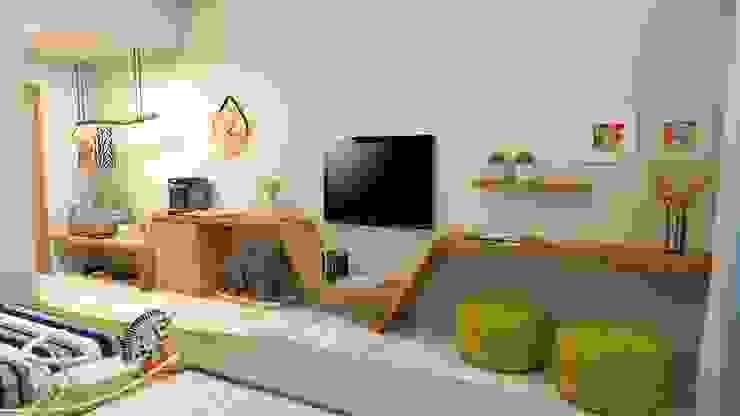 山風足跡民宿-2樓樹木 根據 垼程建築師事務所/浮見月設計工程有限公司 現代風