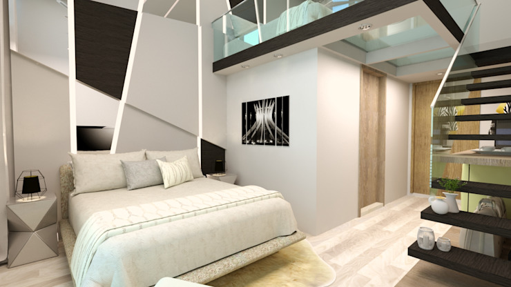山風足跡民宿-3樓光現 根據 垼程建築師事務所/浮見月設計工程有限公司 現代風