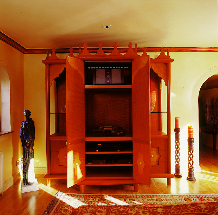 Moroccan Style Hi-fi Cupboard designed and made by Tim Wood Tim Wood Limited Multimedia roomFurniture Wood
