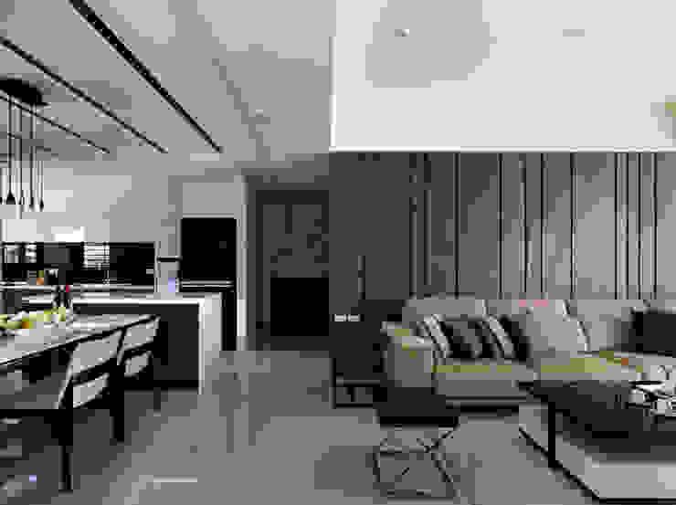 質感設計打造年輕人最愛現代風格 现代客厅設計點子、靈感 & 圖片 根據 拾雅客空間設計 現代風