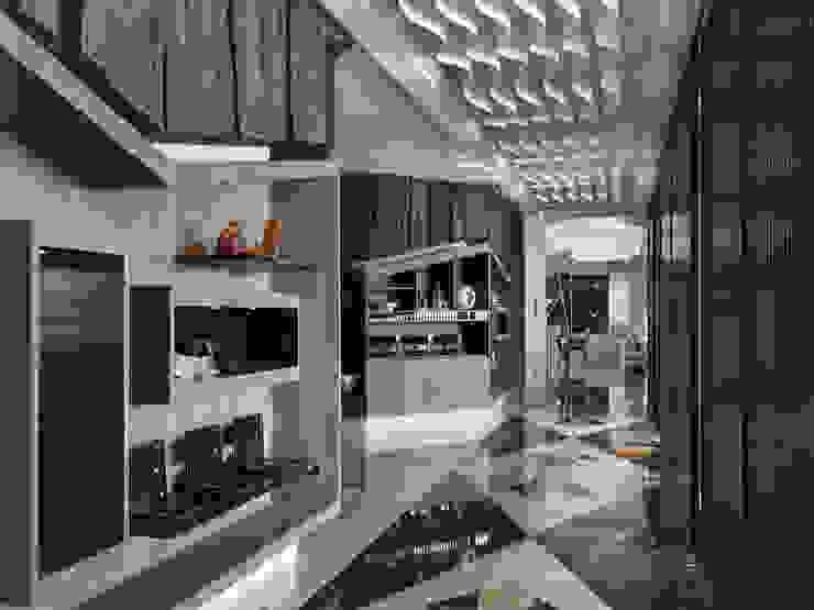 符號 現代風玄關、走廊與階梯 根據 拾雅客空間設計 現代風