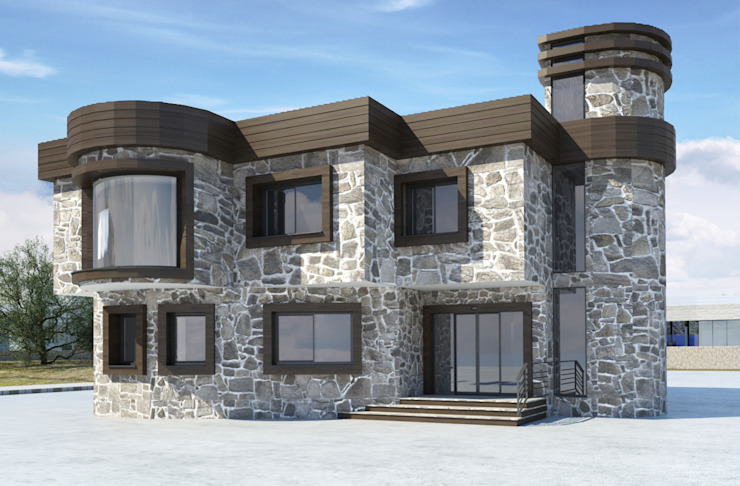 HEAD OFFICE PROJECT FOR MERAM KIREMIT Modern Evler ROAS ARCHITECTURE 3D DESIGN AGENCY Modern